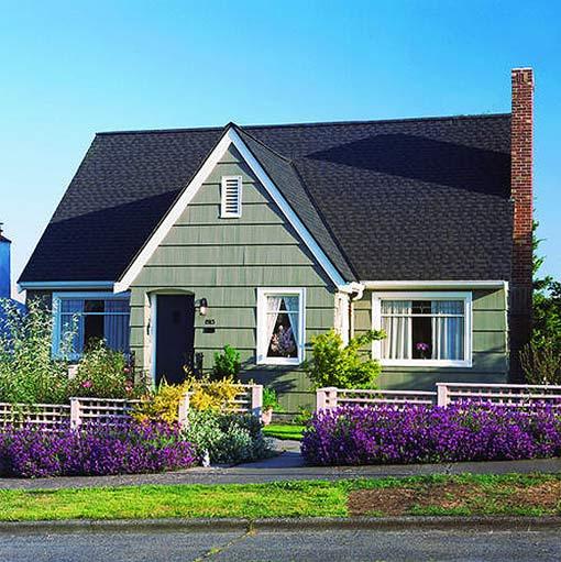 дачная переделка цветник у входа в дом до и после фото