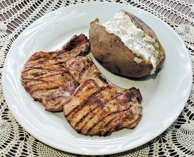 bone-on pork chops