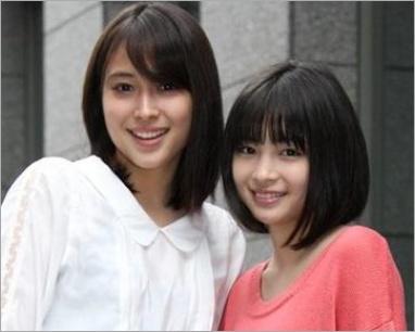 笑顔の広瀬姉妹
