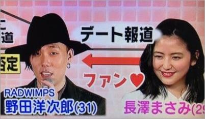 長澤まさみと野田洋次郎