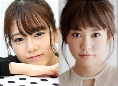 川口葵と桐谷美玲が似てる
