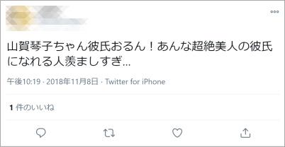 山賀琴子彼氏