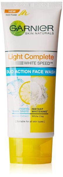 Garnier Skin Naturals Light Complete White Speed Duo Action Face Wash