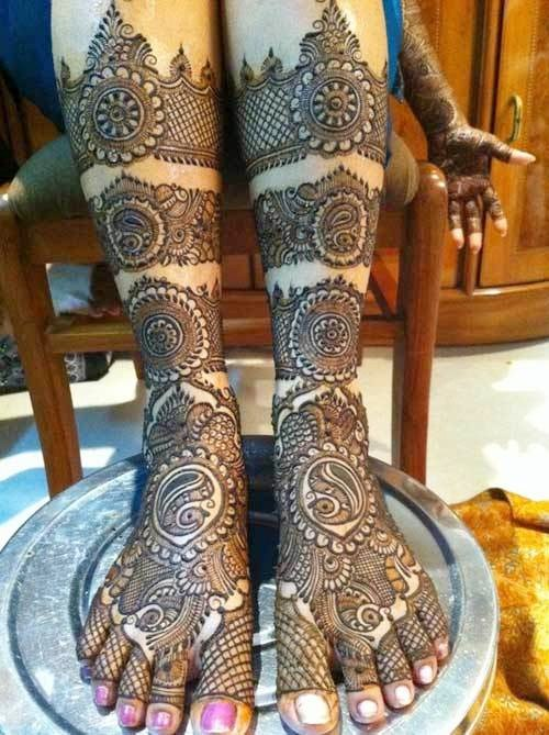 rajasthani-feet-mehndi-design-for-brides