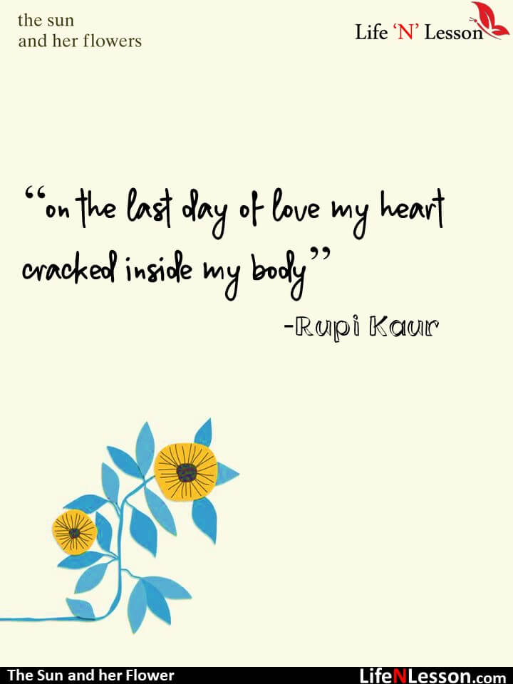 the sun and her flowers quotes by Rupi Kaur