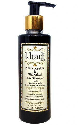 Khadi Global Amla Reetha Shikakai Hair Shampoo