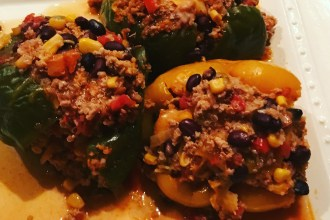 Healthy crockpot mexican stuffed pepper recipe