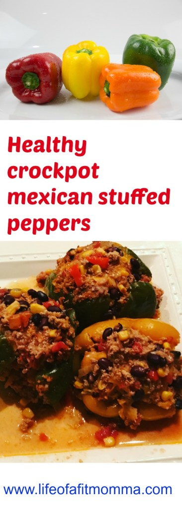 Healthy crockpot mexican stuffed peppers