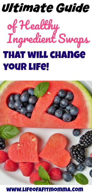 Ultimate guide of healthy ingredient swaps that will change your life! Learn how to make small change in the kitchen on a daily basis that add up to major changes in your waistline, energy level and overall health!