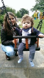 First real go on the swings