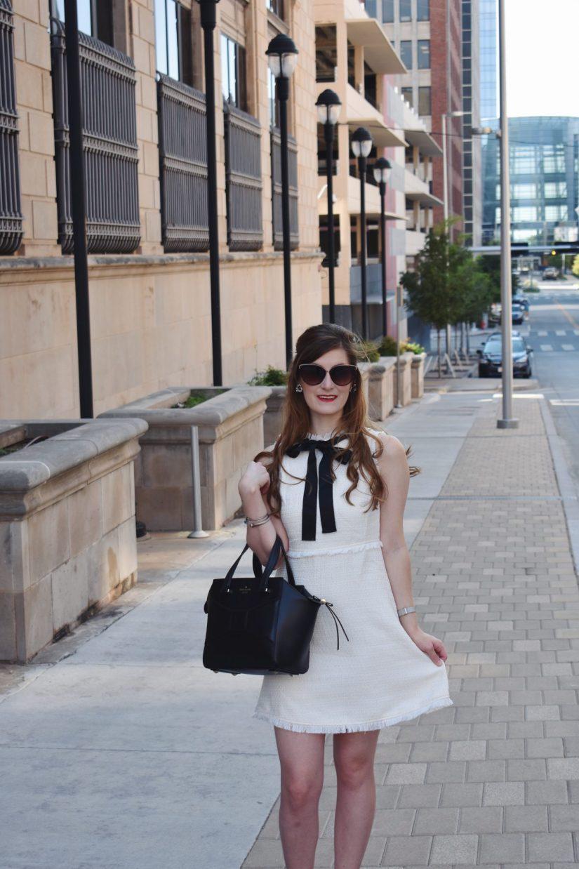 Blair Waldorf Style | Blair Waldorf Costume | Blair Waldorf Outfit | How To Be Blair Waldorf | Blair Waldorf Halloween Costume | Preppy Outfit | Tweed Dress | How to wear a tweed dress