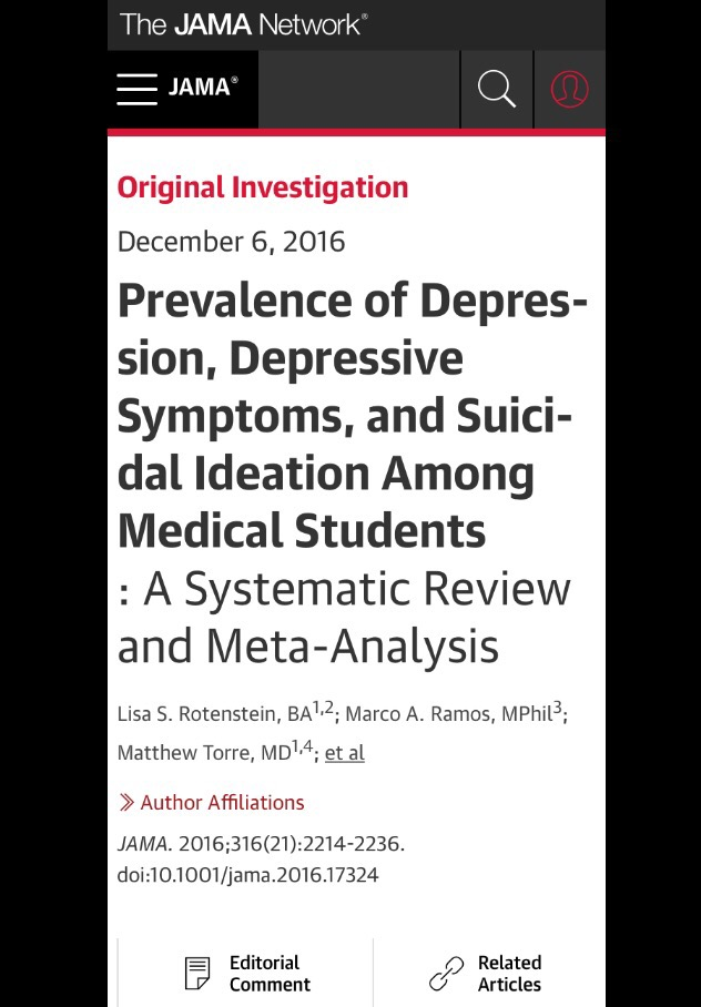 Study shows Medical Students are at high risk for depression: A few thoughts on why!