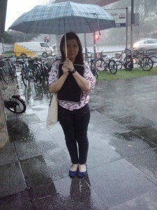 the rain was so heavy ):