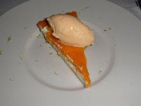 Mango pie, yogurt and mascapone ice cream
