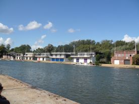 Oxford University boat houses