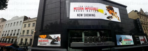 Fanatical about Film! Enjoying Mission Impossible: Rogue Nation, Leicester Square, London