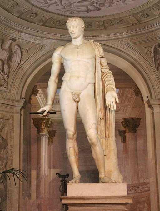 """""""Pompey"""" Statue at Villa Arconati."""