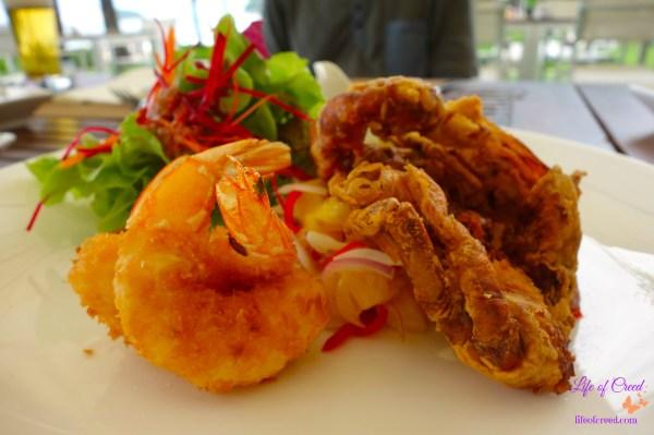Thailand, Phuket, Katathani Hotel, Fried Soft Shell Crab Salad