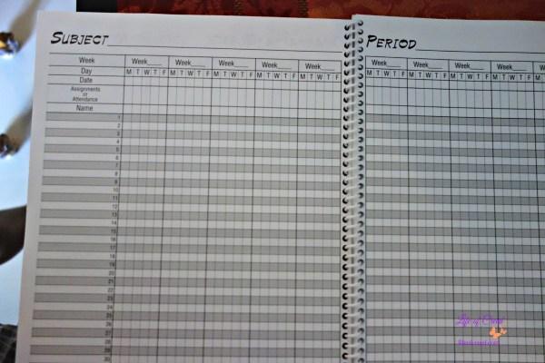 teacher record book, homeschool record keeping