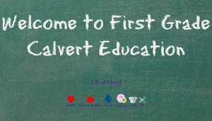Welcome to First Grade using Calvert Education via lifeofcreed.com @lifeofcreed