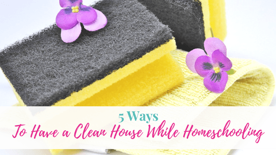 5 Ways To Have a Clean House While Homeschooling