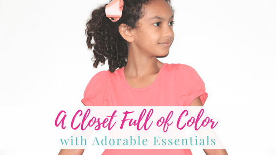 A Closet Full of Color with Adorable Essentials