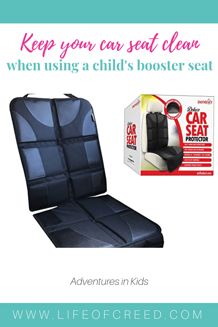 The DaffaDoot deluxe car seat protector is an easyway to keep your seat clean and protected.