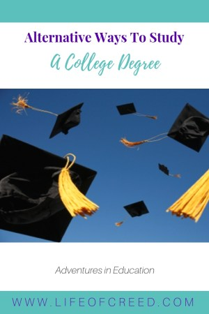 Many people don't realize that there are many ways to study a degree. Here are just a few alternative ways to get a college degree and the benefits that each of them can offer.