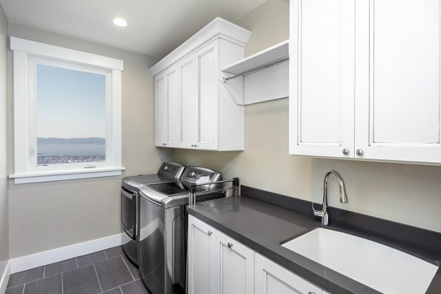 Undermount sinks these kinds of sinks are made out of marble, granite or concrete that is installed under the solid surface countertop.