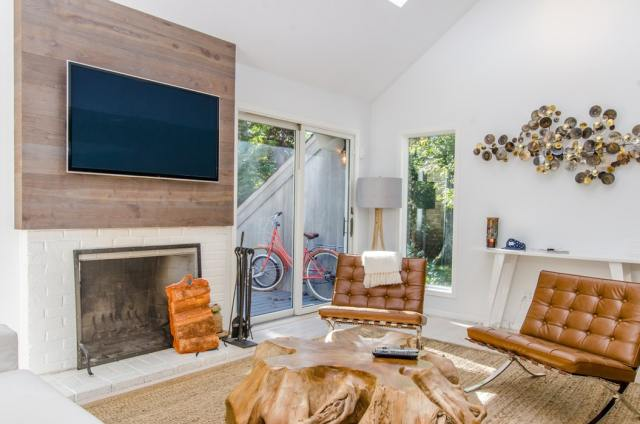 The TV can be a statement piece in your living room.
