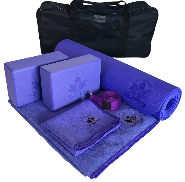 Mother's Day gift idea yoga mat set.