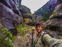 Darwin and mom in the Tugela River Gorge!