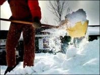 Shoveling: Burns about 500 calories per hour
