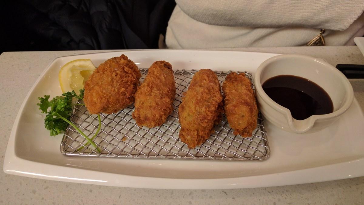 kaki fry from Satomi Sushi
