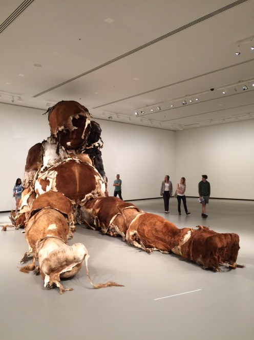 A piece by Zhang Huan at the Fondation Louis Vuitton