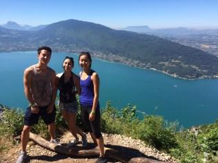 On the peak of Mount Veyrier