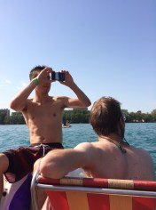 Paddle boating in Annecy Lake (before my phone ran out of battery)