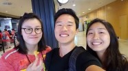 Didn't mention this in the post, but we met Fu Yuanhui, the Chinese bronze medalist + awesome gif person, at the airport in Madrid!
