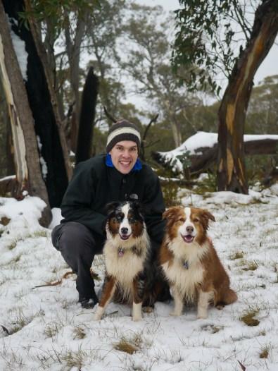 Husband + dogs