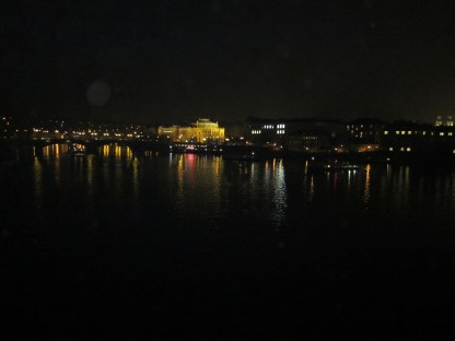 View from the bridge at night