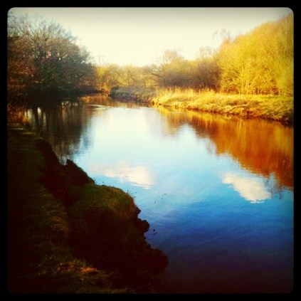 Today is all about...the walk around Reddish Vale