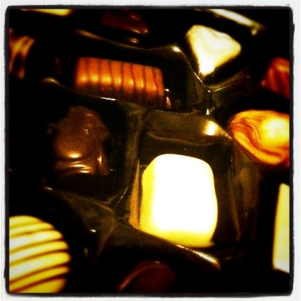 Today is all about...choccies (& a day off) for not phoning in sick at work for a year