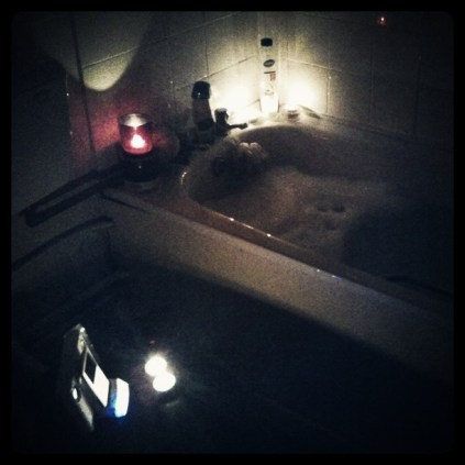 Today is all about...candlelit bath with Will Young playing
