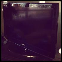 Today is all about...the TV finally going away for repair