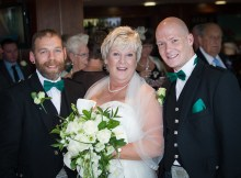 Myself with my brother and mum on her wedding day