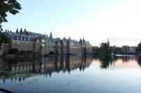 The Binnenhof/Hofvijver in the late evening