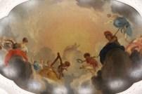 A beautiful ceiling scene inside the museum