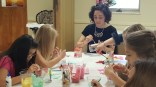 Crafting - we made votive candle holders