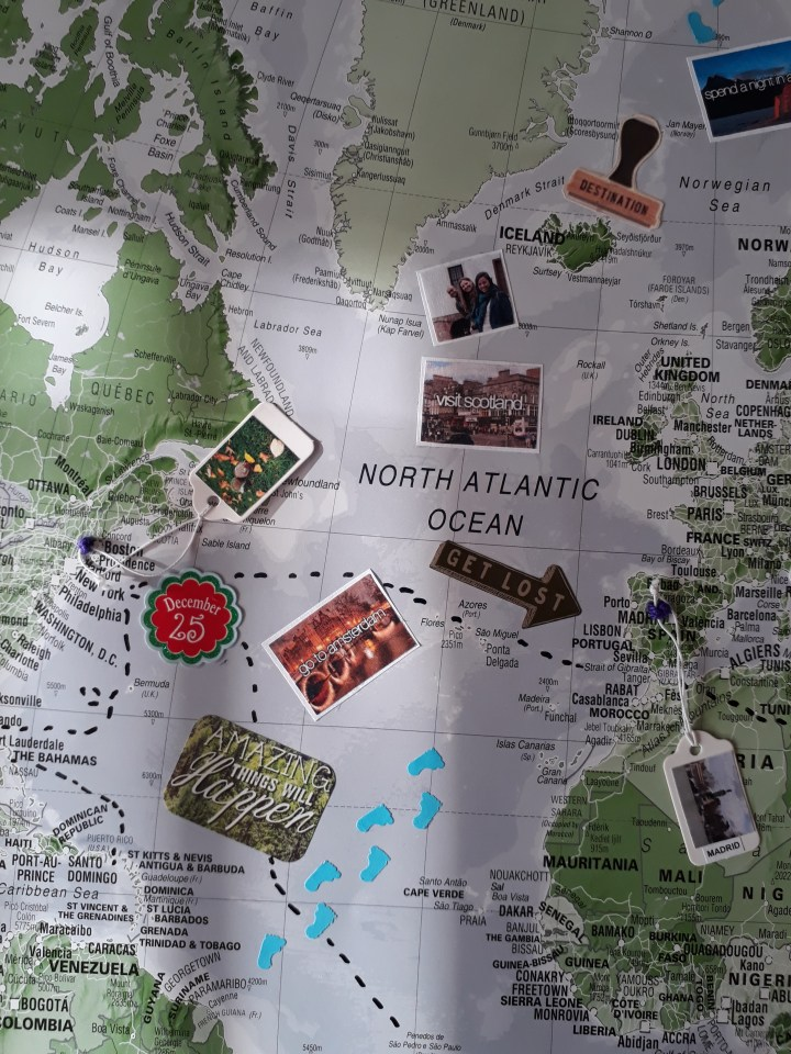 map of travel memories