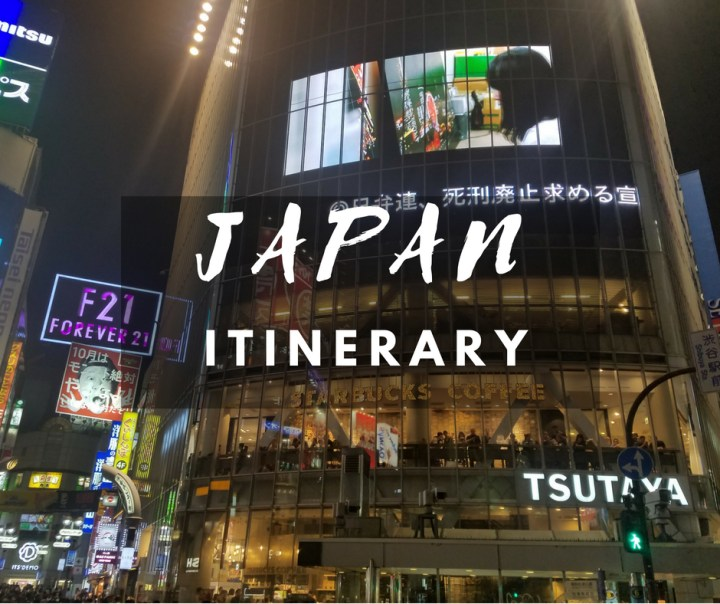 A seven day Japan Itinerary
